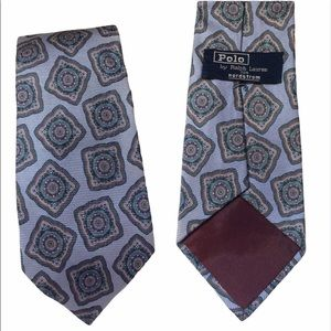 Ralph Lauren Polo Periwinkkle Blue Silk Tie